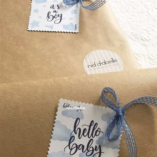 Wrapping time ☁️ baby boy on board 😇Write it on fabric by nid d'abeille ...