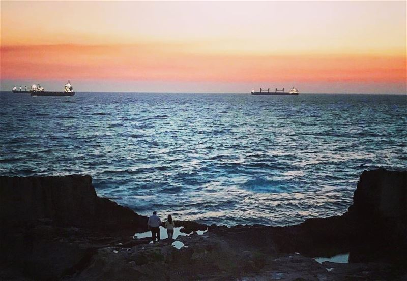 Best escape anyone can have ! lebanon  batroun  sunset  saydetelbaher ... (Saydet El Baher-Batroun)