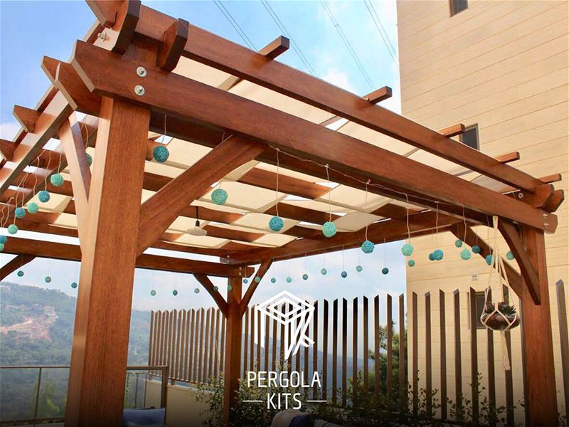 The Vendimia Pergola Kits with Fabric and Accessories.  PergolaKitsLebanon... (Qurnat Shahwan, Mont-Liban, Lebanon)
