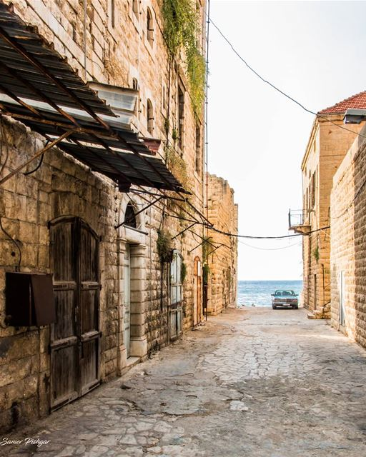 The old Alley beside the sea.Jounieh - Lebanon... village  house ...
