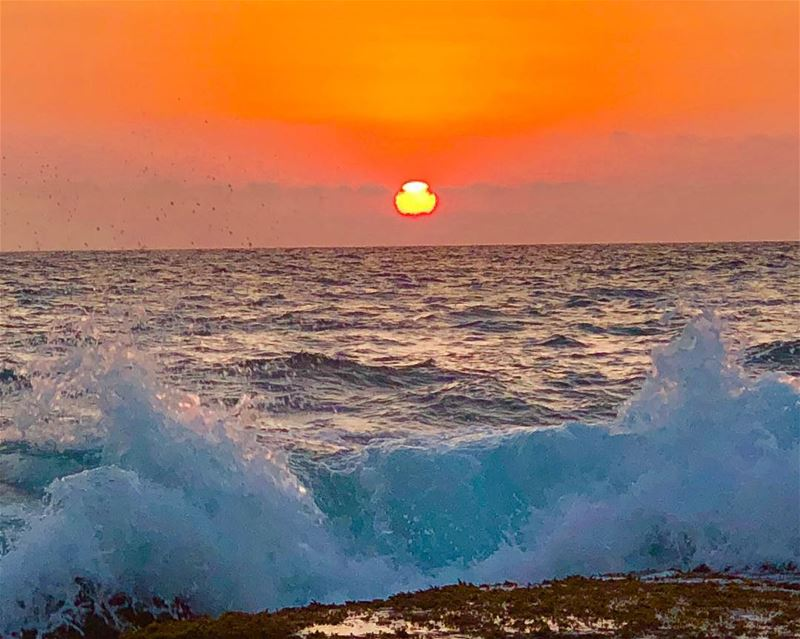 Love is the longing for the half of ourselves we have lost.. sunset waves... (Okaibeh)