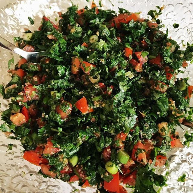 •Who wants some Tabbouleh?••• tabbouleh  lebanesefood  foodporn ... (Beirut, Lebanon)