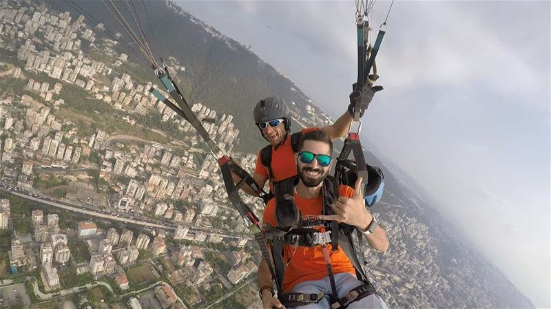 Open the wings of freedom and make your dream true of flying in the air.... (Paragliding Jounieh)