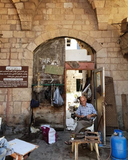 Khan Sour, another abandoned caravanserail in... (Tyre, Lebanon)