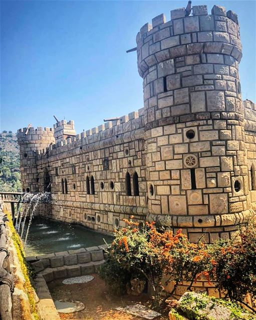 Moussa  Castle  betweenDeir el Qamar and Beit ed-Dine. The creator of... (Moussa castleقلعة موسى)