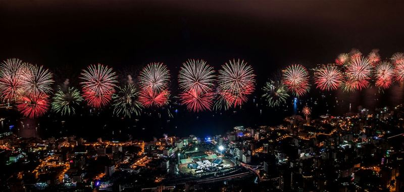 Fireworks at Jounieh Festival 2015
