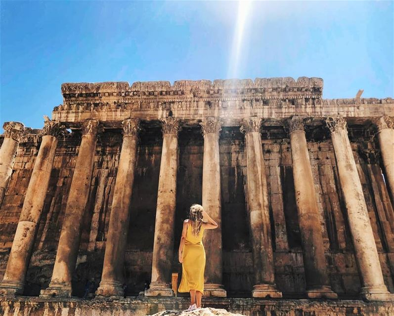 Reflecting never gets old, even fot the sun 🌞 ... (Baalbek, Lebanon)