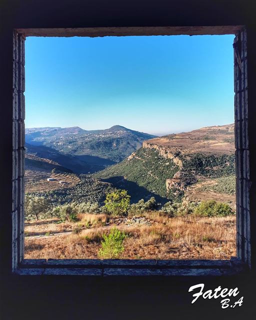 We have an inner window through which we can see the world, and though it... (Haret Jandal, Mont-Liban, Lebanon)