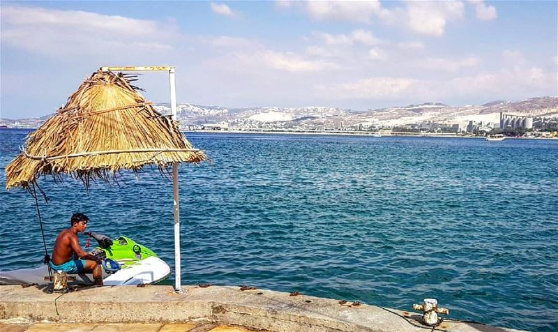 Away from the city, behold the Big Blue. 💙 ........... Lebanon... (Chekka)