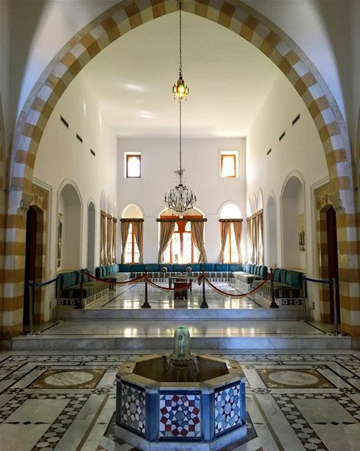 Heritage and luxury in one room. ______________________________________... (Beiteddine Palace)