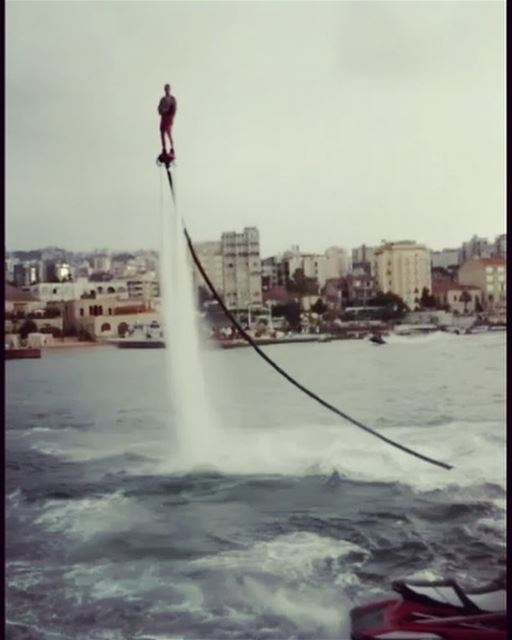 To double your backflip You got to triple your effort  flyboard ... (Joünié)