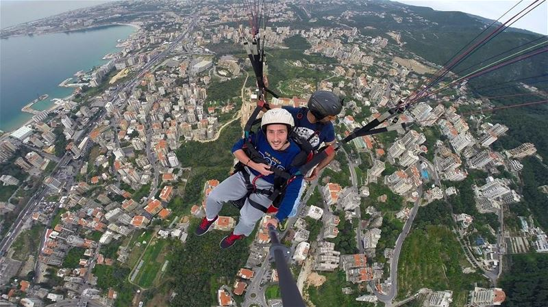 How to be a bird!...... paragliding  lebanonspotlights ... (جونية - Jounieh)