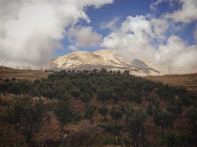 Sanninsberg🏞️... autumn  land  clouds  sky   lebaneseroadtrip ... (Sannine Heights)