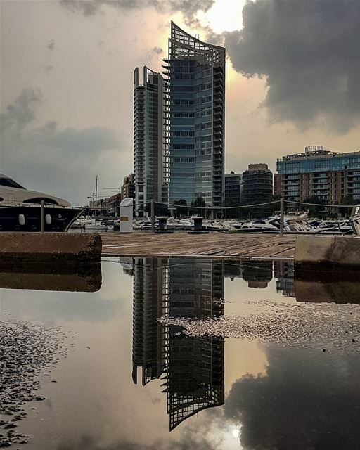 How many times have we shared the reflection of these buildings.. yes that... (Zaitunay Bay)