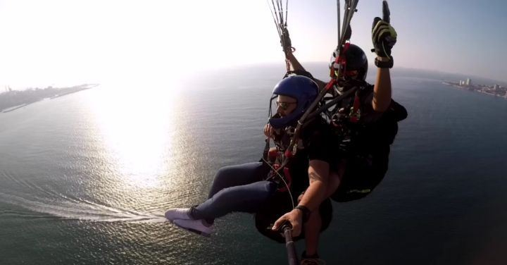 Life is either a daring adventure or nothing.... paragliding flying...