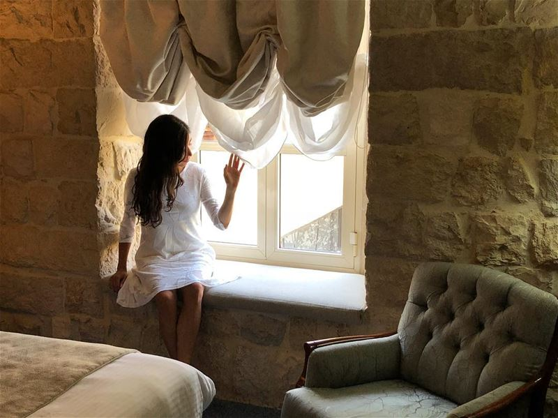 ©️@ninajohae daydreaming white dreams vintage photo photooftheday... (Grand Kadri Hotel by Cristal Lebanon)