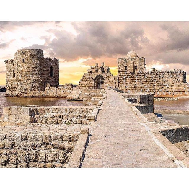 Sidon's Sea Castle was built by the crusaders as a fortress of the holy land. It is one of the most prominent archaeological sites in the port city of Sidon, Lebanon.