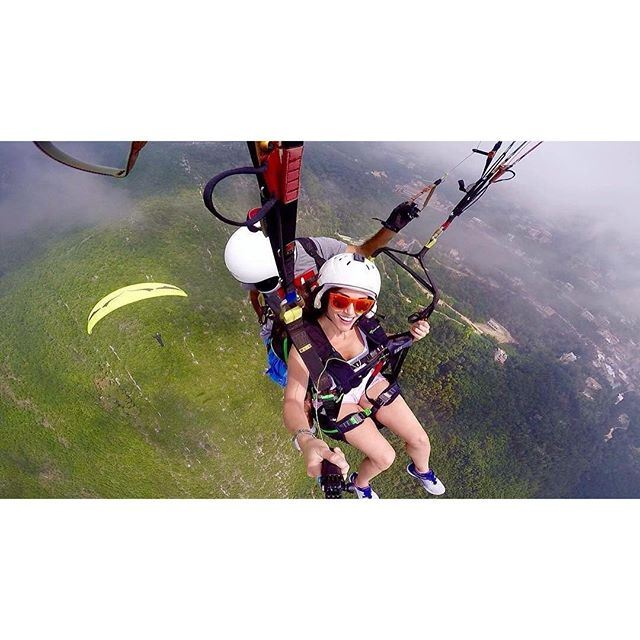 Trying to keep all the adrenaline rush in one photograph 💃🏻😍 Photo by: @flylebanonparagliding