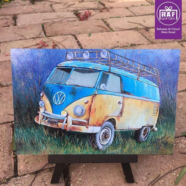 Born to camp 🏕 raf_giftry....... painting  gift  vw  camping ... (Raf Giftry)