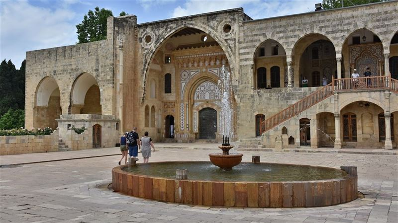 Courtyard  Fountain  Archway  Staircase and  Monumental  Doorway ...