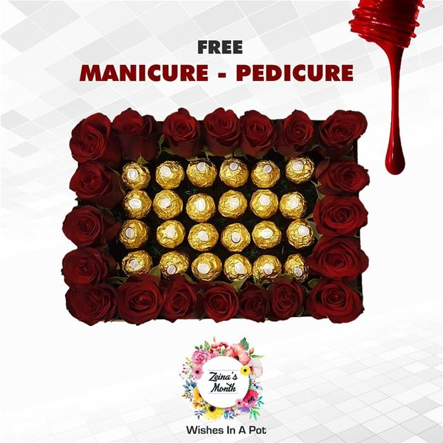 Zeina's month last day offer: buy this large  chocolate &  roses box for...