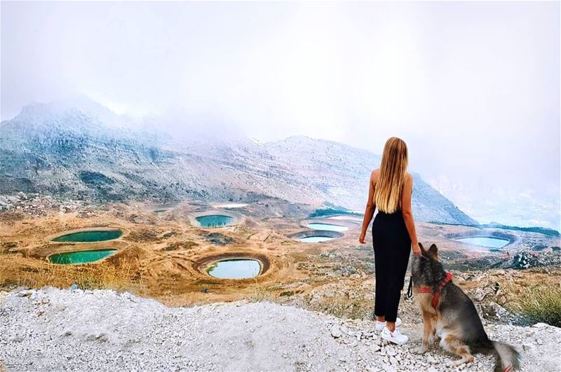 If it wasnt for dogs, some people would never go for a walk 🐶🌏 (El Laqloûq, Mont-Liban, Lebanon)