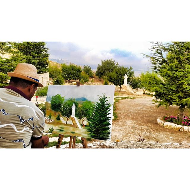 morning art painting paintings colors happy allsaintsday... (Lebanon)