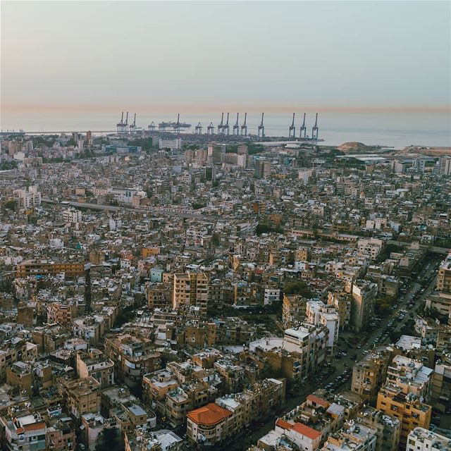 Over THE City🌆📍••• sunset  beirutcity  livelovebeirut  lebanon ... (Beirut Governorate)