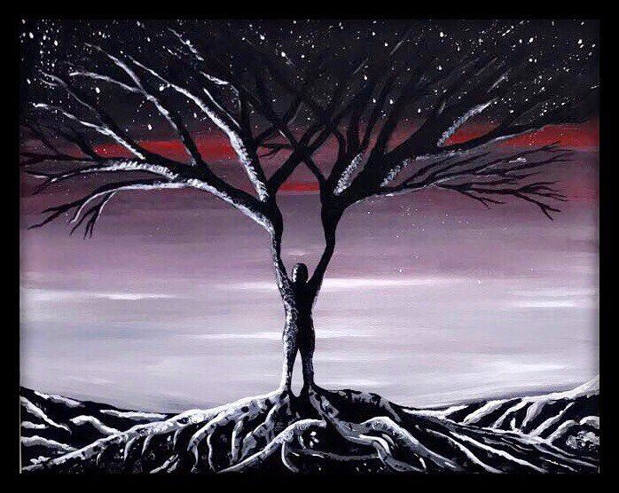"How does this painting make you feel?Title: ""The Reborn Tree"" ready  art..."
