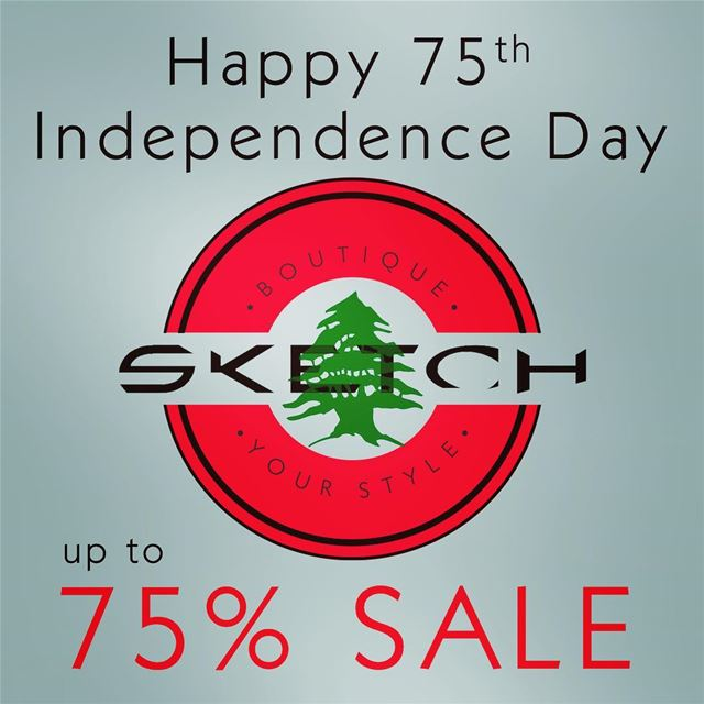 SALE up to 75% OFF for the 75th Independence Day Anniversary 🇱🇧... (El Mtaïleb, Mont-Liban, Lebanon)