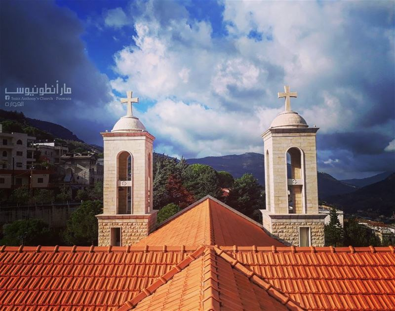 Have a  blessedsunday frim @saint.anthony.fouwara by @sami.tanios  church ...