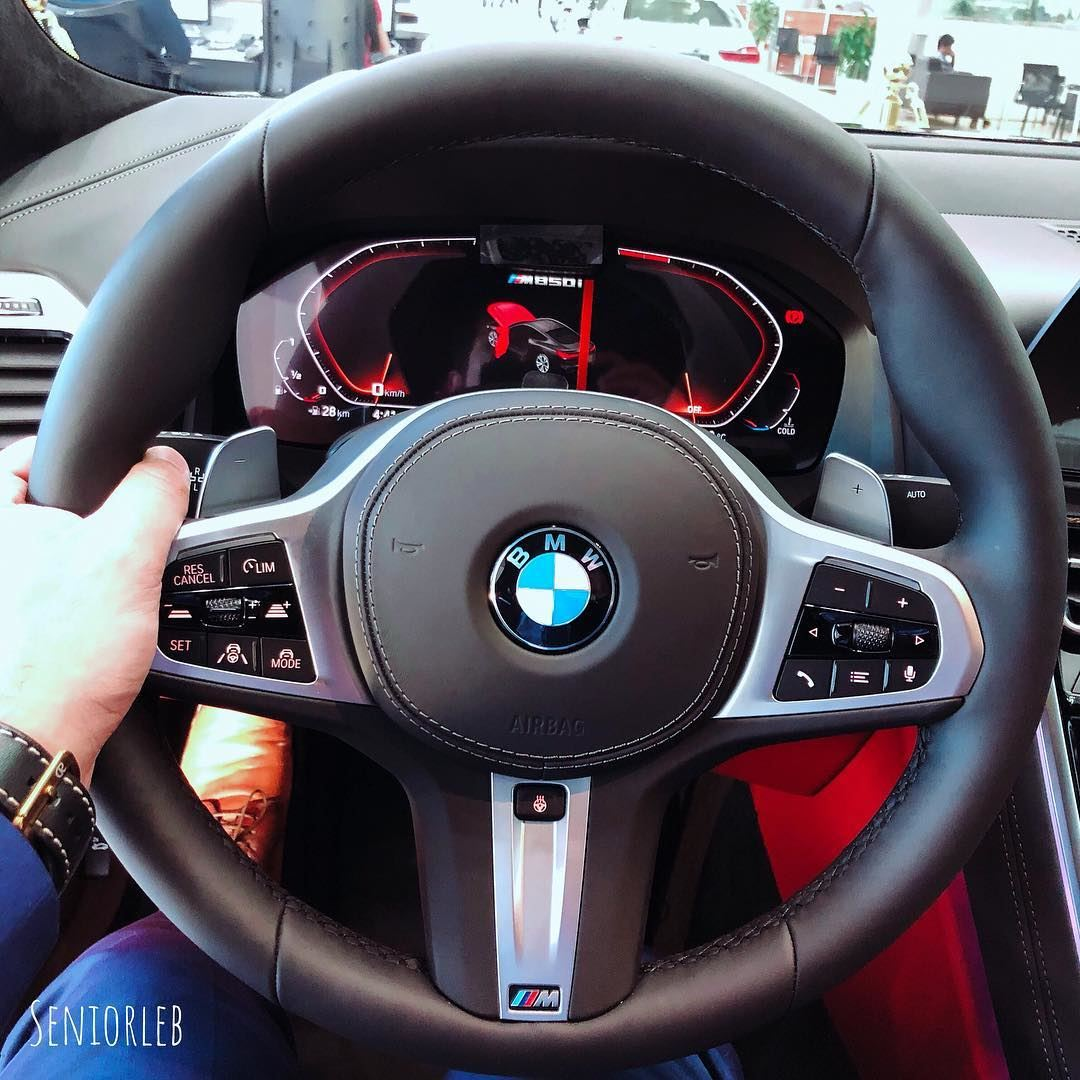 New Instrumental cluster and M steering wheel for the BMW M850i🔵🔴Ⓜ️ ————— (Dubai, United Arab Emirates)