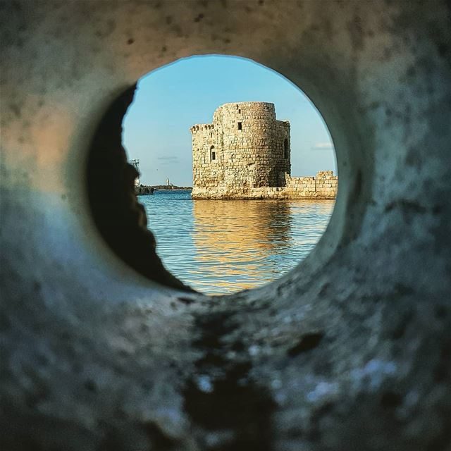 I watched Sidon today°~~📍Sidon Sea Castle  lebanon.............. (Sidon Sea Castle)