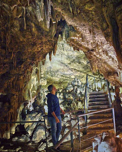 tb  cave  southlebanon  lights  stairs  grotto  discover  lebanon ... (South Governorate)