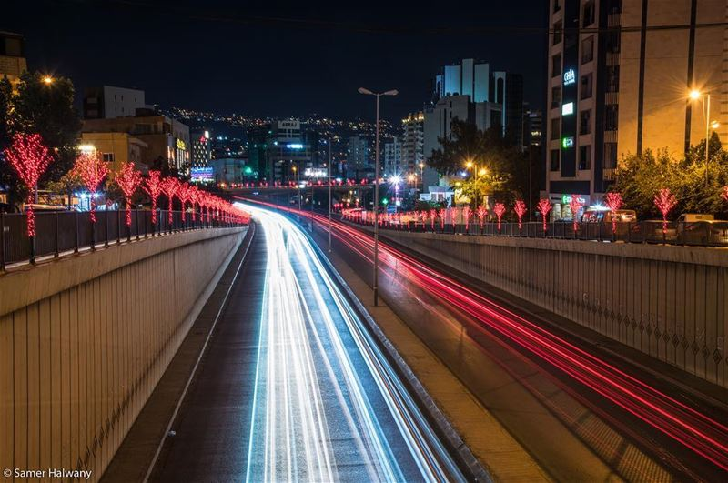Road to festivity ...  beirut  lebanon by  night  photography ...