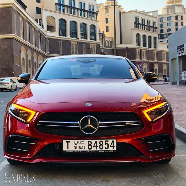 New Mercedes-Benz AMG CLS 53 in Designo red cardinal metallic——> video... (Dubai, United Arab Emirates)