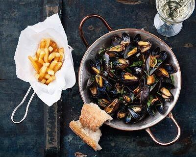 MoulesEtFrites anyone?Join us @chapoba_lb for open mussels & open wine... (Chapô Ba)