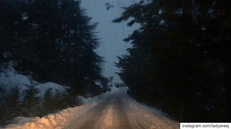 Life is like walking through snow: every step shows! whatsupplebanon ... (Arz Aïn Zhalta)