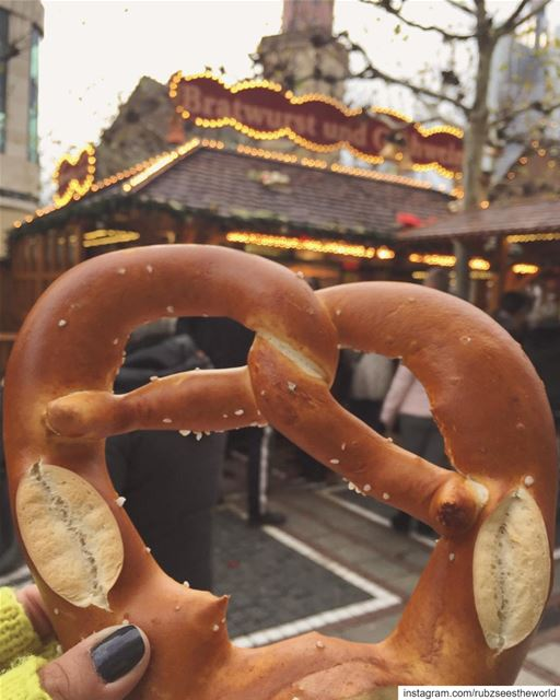 Frankfurt, Germany: today's storm has me dreaming of warm pretzels and... (Frankfurt, Germany)