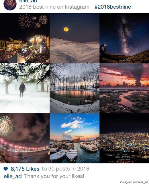 Memories and passion. Thank you 2018 ❤️📷  bestnine2018  lebanon ...