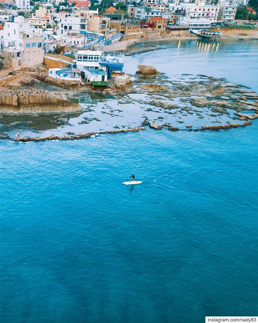 Floating 💦.... standUpPaddleBoarding sea beach  lebanon instagood... (Batroûn)