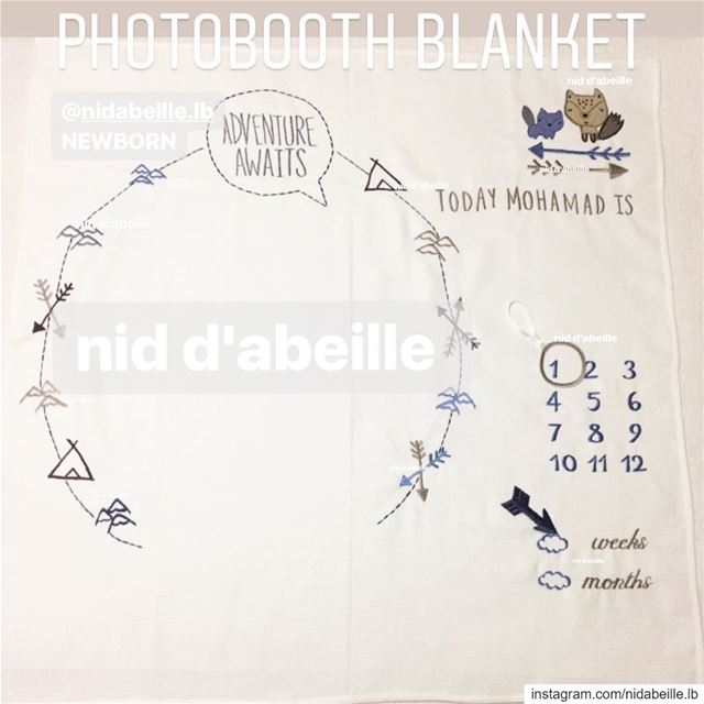 2in1 📽 photobooth & blanket ☁️ Write it on fabric by nid d'abeille ...
