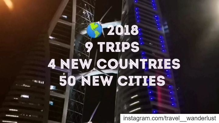 Thank you 2018 for being that generous!9 trips - 4 new countries (Indonesi (Beirut, Lebanon)
