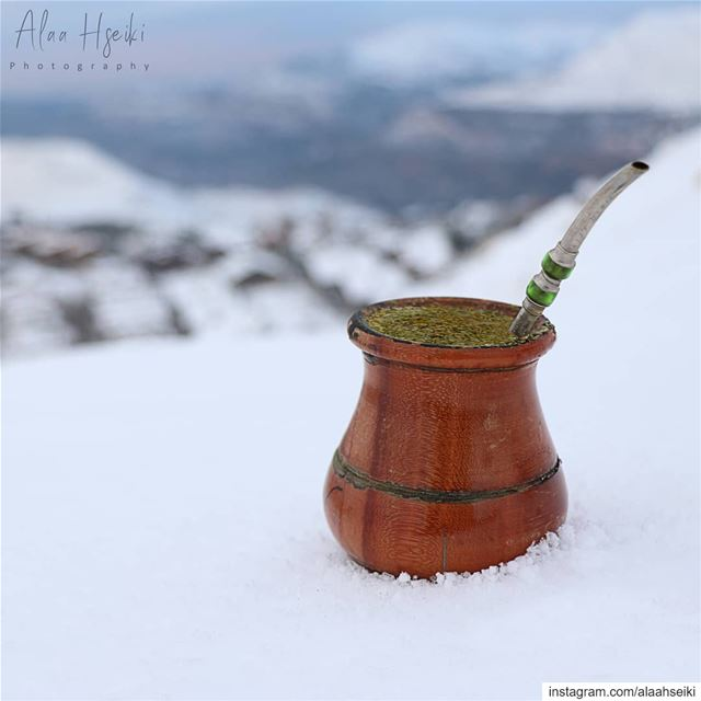 Frosty Weather ; Warm Mate 🍵... Hseiki  Lebanon  beirut  nature ... (Faraya, Mont-Liban, Lebanon)