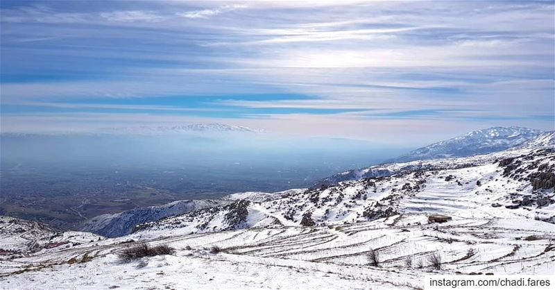 From Sanine to Mount Hermon 🗻 (Mount Sannine)