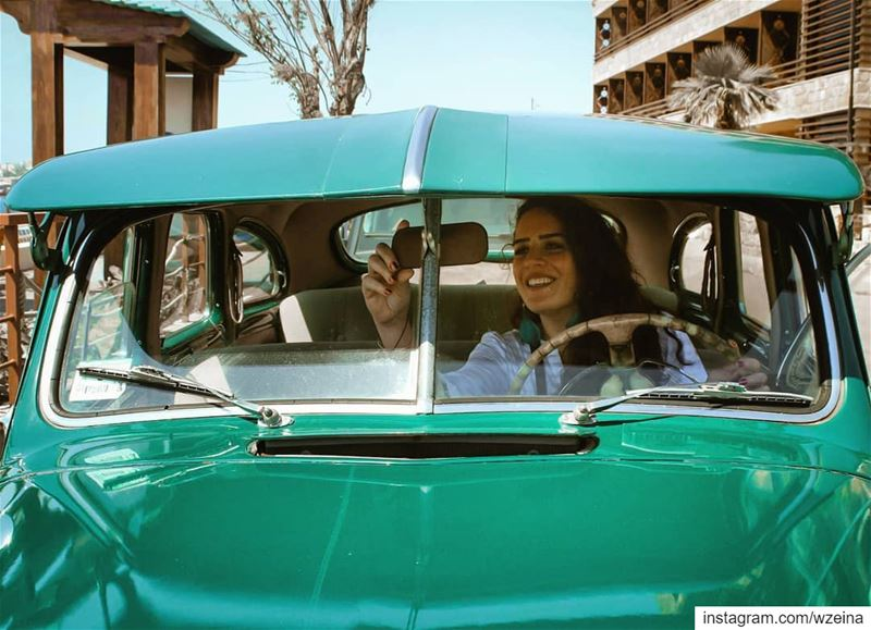 For the l♡ve of ☆Turquoise☆ ♥️... vintage  vintagecar  classic ... (Byblos - Jbeil)