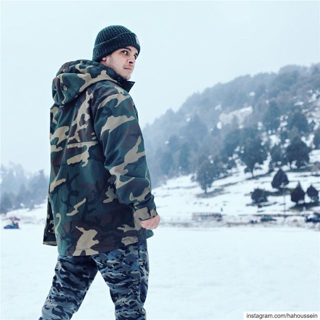 Like when you see me !  camuflage  camo  winter  Lebanon  snow  cold ... (Kamouaa)