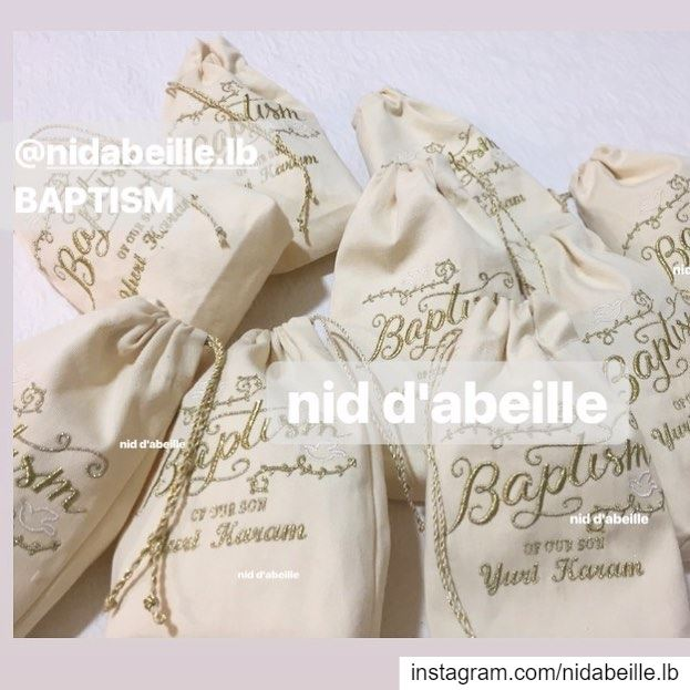 Blessed baptism little angel 😇 GIVEAWAY! Write it on fabric by nid d'abeil