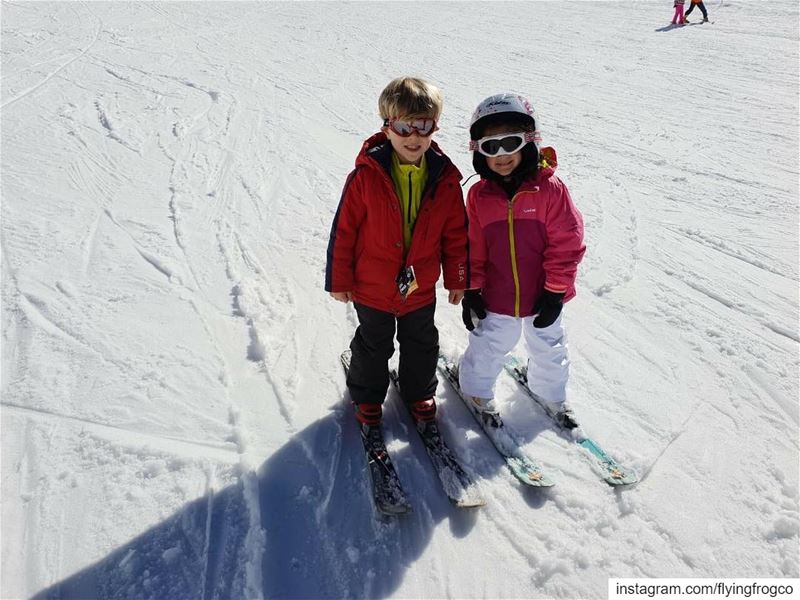 How cute is that!!..... flyingfrog  flyingfrogco  ski  skiing ... (Mzaar Ski Resort Kfardebian)