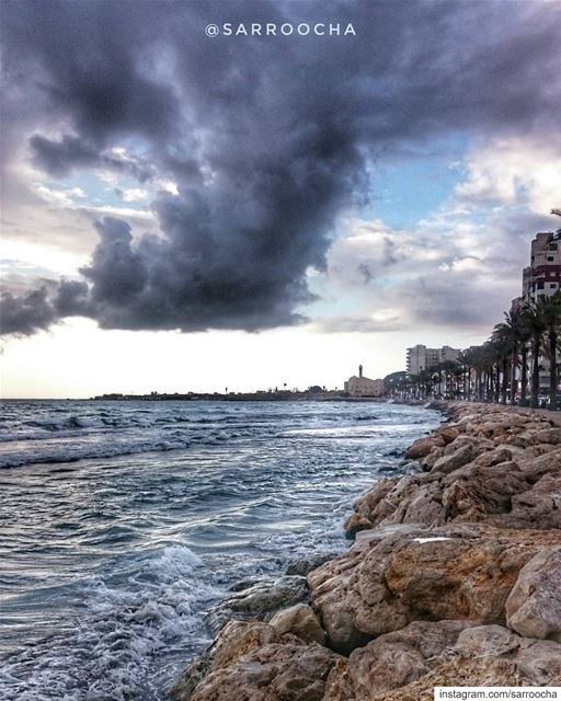 The beauty of grey clouds is that they never stay forever ☁  takenbyme ... (Tyre, Lebanon)